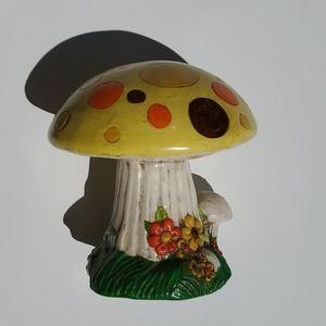 Vintage 70s handmade mushroom decor